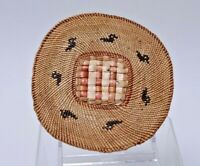 "Makah Flat Trivit Basket basket with Ducks  c. 1910; 5 3/4"" x 6"""