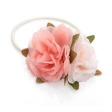 Ton rose & crème fleur très Double cheveux élastique RRP £2.50 - tout neuf + Tags