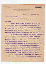 District Attorney Emory P Close signed 1898 letter to F S Bentley, Horseheads Ny