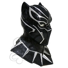 Latex Panther - Black with Chest Fancy Dress Carnival Party Theater Props Mask