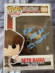 FUNKO Pop Yu-Gi-Oh! Eric Stuart Signed Seto Kaiba Funko Pop INSCRIPTION #2 ACOA