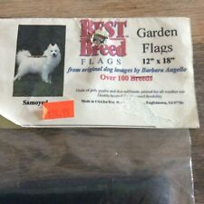 Samoyed Dog Breed Garden Flag 12x18 New Made In Usa
