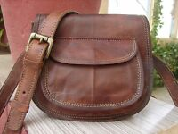 Indian Real Genuine Leather Vintage Messenger ladie's Shoulder Hippie Tote Bag