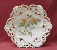 Antique Carl Tielsch OLD PARIS German Porcelain Reticulated MASTER FRUIT BOWL