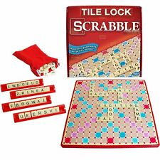 Super Scrabble Deluxe Edition Tile Lock Rotating Board Game Winning Moves