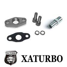 Turbo Oil Return Drain Flange 44mm Garrett T2 T25 T28 TB02 TB25 TB28 w/ fitting