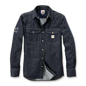 Carhartt Herren Jeans Hemd Schutzfunktion PROTECTIVE DENIM SHIRT Gr. M Tall