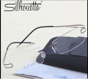 1051 Silhouette Ultralight Titanium Rimless Glasses Eyeglasses Frame Double Leg.
