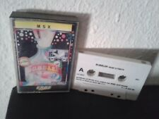 Ultimate play the game BUBBLER 1986 msx cassette game Erbe spain exclusive