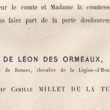 Ange De Léon Des Ormeaux Rennes Ille-et-Vilaine 1873