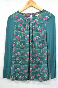 BODEN TEAL PATTERNED TOP SIZE - 10 ##LEICL62