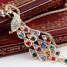 Charm Jewelry Peacock Pendant Long Chain Sweater Necklace Fashion Gift Latest