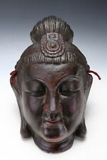 Old Vintage Plaster Buddhism Mask -Sho Kannon- Showa Period 聖観音