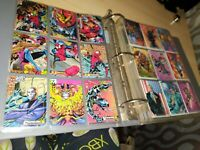 Lot of Approx 270 Marvel Cards Skybox Fleer 1994 1995 Other Some Gold Signatures