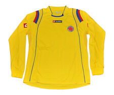Colombia National Team Lotto Jersey long sleeve yellow L XL adult falcao