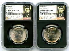2018 P & D KENNEDY NGC GEM UNC HALF DOLLAR MATCHING 2 COIN SET FIRST RELEASES !!