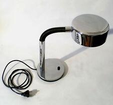 70s Leuchte Chrom Hustadt table desk lamp space age Lampe de bureau annees 70