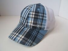 Blue Plaid Bud Light Trucker Hat Budweiser Beer Snapback Cap