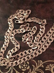 9ct Gold Curb Chain Necklace 15.8g