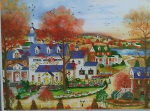 1000 piece puzzle 'Sunflower Farm', Bits and Pieces, art by Mary Ann Vessey