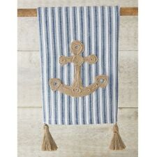 Mud Pie Anchor Tassel Jute Rope Applique Hand Guest Towel - New In Package