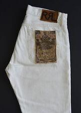 Ralph Lauren RRL White Slim Bootcut Selvedge Jeans 32 x 32 New $225