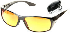 As Seen on TV HD Vision Ultras NIGHT VISION Glasses Sunglasses  BONUS VISOR CLIP