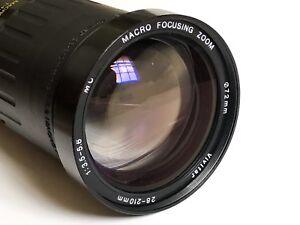 Vivitar 28-210mm f/3.5-5.6 MC Macro Focusing Zoom Lens For Canon FD Mount Camera