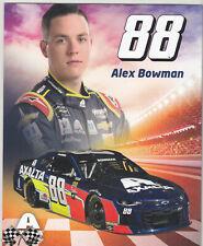 2019 ALEX BOWMAN AXALTA NASCAR MONSTER ENERGY CUP SERIES POSTCARD