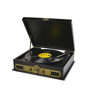 Refurbished  mbeat MB-USBTR98 Vintage Vinyl Turntable with Bluetooth and AM/FM