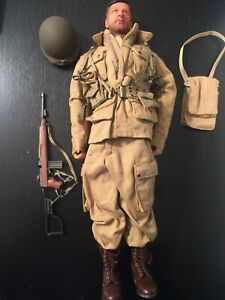 "CUSTOM WWII US 101ST AIRBORNE DIVISION 12"" FIGURE ALBERT ROSS DID DML 1/6 SCALE"