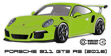 New! Collectable Sticker Porsche 911 GT3 RS 2016 LIME