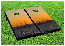 Vinyl Abandoned Three Sail Sail Boat Cornhole Beanbag Boards 1021