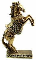 10.5 Inch Stallion Horse Brass color statue perfect for home decoration Xmas
