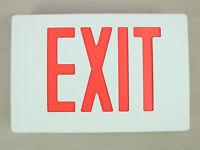 Lot Of 6 LED Exit Sign Emergency Lighting Battery Backup UL HI Output Die Cast