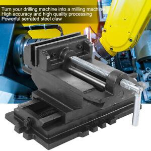 "5"" Cross Slide Drill Press Vise Milling Table Vice Holder Clamp Bench Equipment"