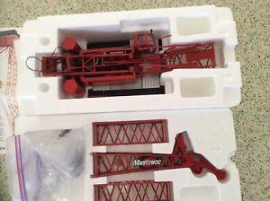 Manitowoc 555 Boom Crawler Crane - Red - CCM 1:50 Scale Model New!
