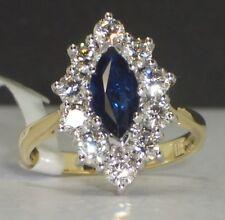 Large Sapphire & Diamond Ring 1ct Blue Sapphire 1.25ct H Colour VS Diamonds