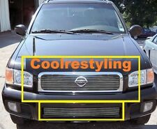 FOR 99 2000 01 Nissan Pathfinder  Billet Grille Grill Combo inserts