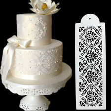 Plastic Cookie Cake Stencil Fondant Tool Decoration for Cake Wedding Flower HC