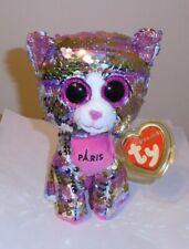 """Ty FLIPPABLES - ESMERALDA the Cat (Paris Exclusive) 6"""" Beanie Boos NEW - IN HAND"""