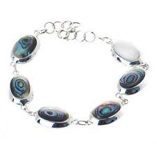 Armband mit Abalone Paua Muschel oval , 925 Sterling Silber Bella Carina