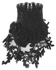 Punk Rave Black Rose Lace Choker Collar Necklace Gothic Vintage Steampunk