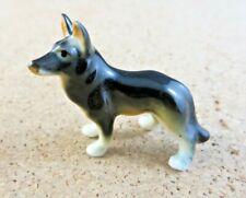 Vintage German Shepherd Dog Dollhouse Pet Miniature Porcelain Figurine #13