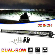 Dual Row 32INCH LED Light Bar 840W Driving Offroad Flood Spot Combo Beam PK 30""
