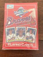 1992 World Series Baseball Atlanta Braves Playing Cards NEW in Package MLB