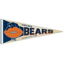 CHICAGO BEARS NFL Retro 1950s Style Premium Felt Collector's PENNANT