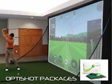 Complete OptiShot2 Golf Simulator Packages - Screen, Projector, Mat, Sensor