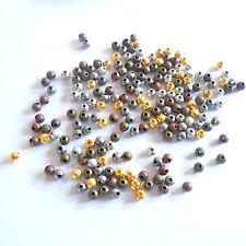 50 Metallperlen STARDUST 4mm Rund Perlen MIX  Spacer Schmuck Sternenstaub