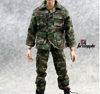 """1/6 Scale Hot ARMY Camouflage Texturing Uniform Set For 12"""" Action Figure Toys"""